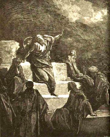 Gustav Dore, Jeremiah Preaching (1865)