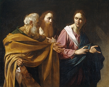 Carvaggio, the Calling of Saints Peter and Andrew