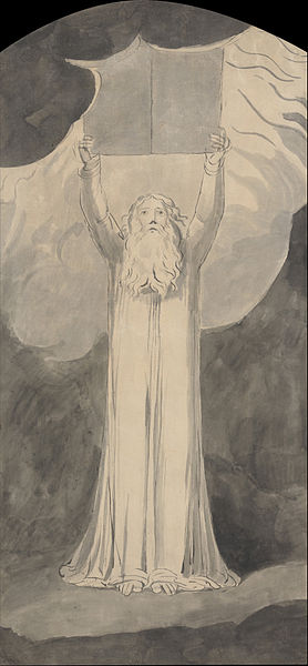 William Blake, Moses Receiving the Law (1780)