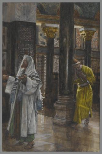 James Tissot, The Pharisee and the Publican (1894)