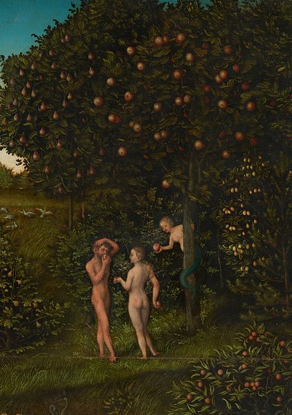 The Fall of Man by Lucas Cranach (1530)