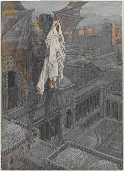 James Tissot, Jesus Carried to teh Pinnacle of the Temple