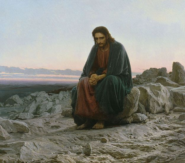 Ivan Nikolaevich Kramskoi, Christ in the Desert (1872)