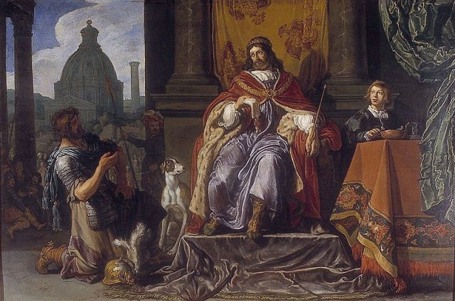 Pieter Lastman, King David Handing the Letter to Uriah (1611)