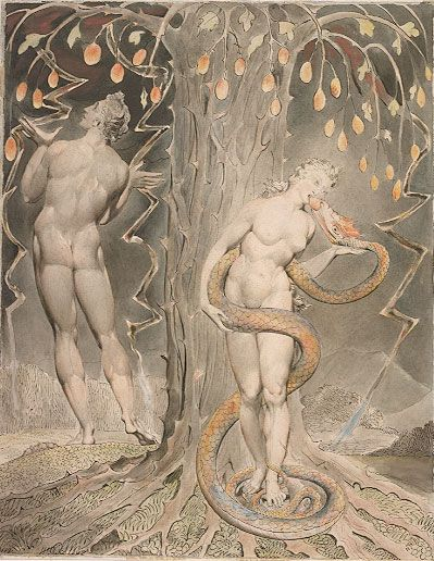 William Blake, Adam and Eve (1808)