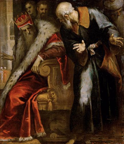 Palma Giovane, Prophet Nathan ermahnt Konig David (1622)