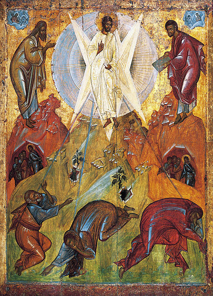 The Saviour's Transfiguration, an early 15th century icon attributed to Theophanes the Greek