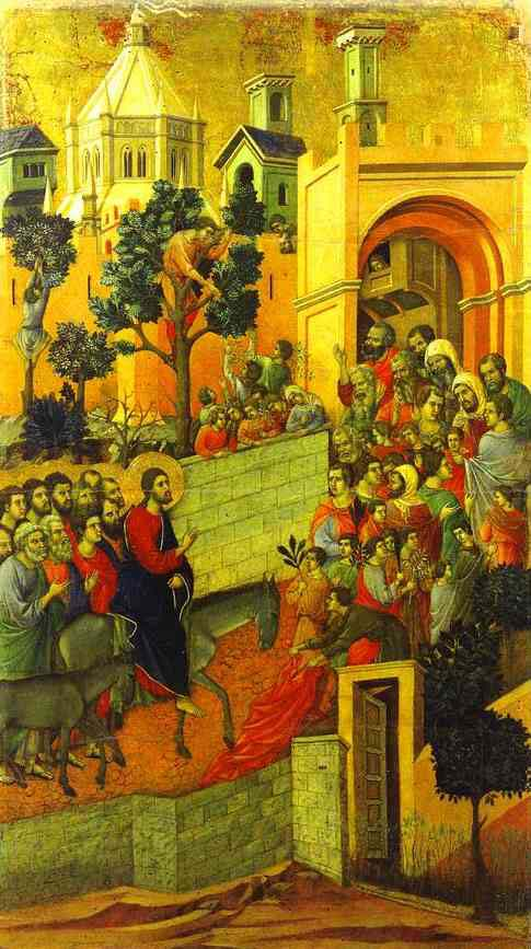 Duccio dr Buonisegna, the Entry into Jerusalem (1308-11)