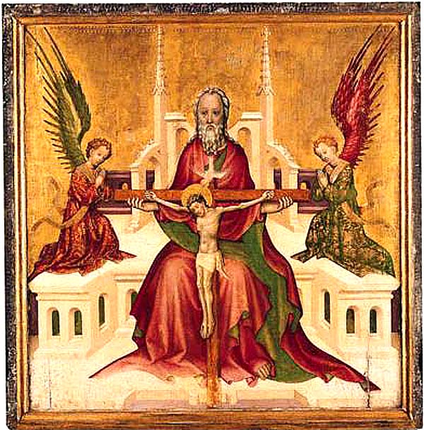 Trinity with Christ Crucified, Austrian abour 1410