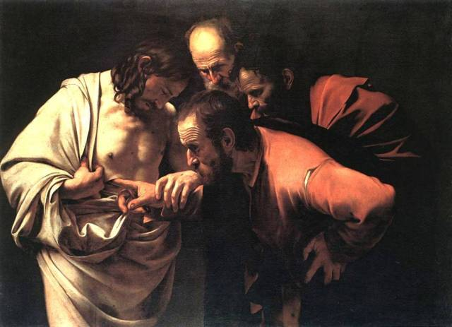 Carvaggio, The Incredulity of Thomas (1601-1602)