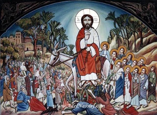 Coptic Icon, Entry into Jerusalem