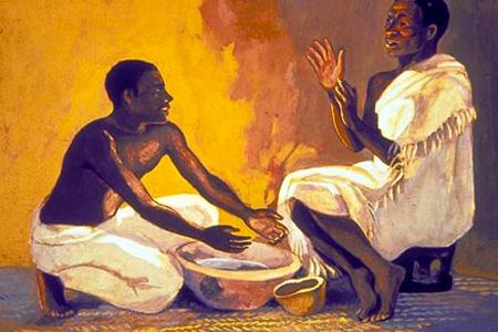 Unknown artist, from Vie de Jesus Mafa