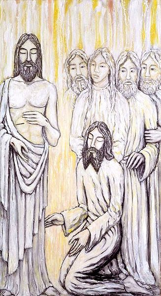 Jacek Andrzej Rossakiewicz, Jesus Appears to Thomas (1990) Copyright holder released rights to public domain