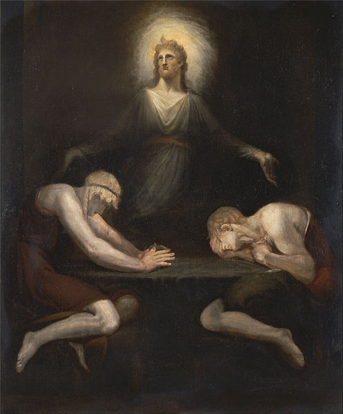 Henry Fuseli, Christ Disappearing at Emmaus (1792)