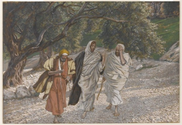 James Tissot, The Pilgrims of Emmaus on the Road (1886-1894)