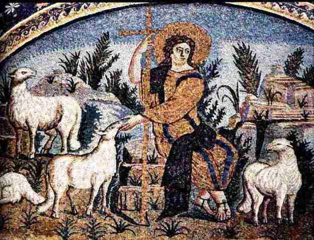 Mosaic, Le Bon Pasteur, Ravenne Mausolee