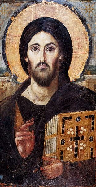 Christ Pantokrator, 6th Century encaustic icon from St. Catherine's Monastery, Mount Sinai