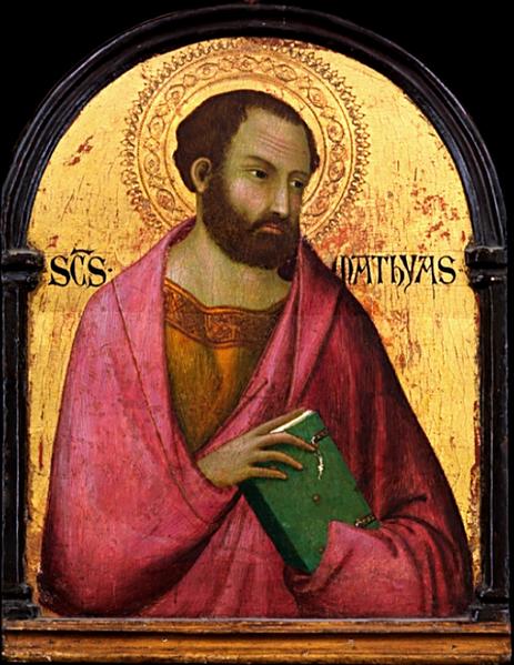 Saint Matthias, (1317-1319) Workshop of Simone Martini