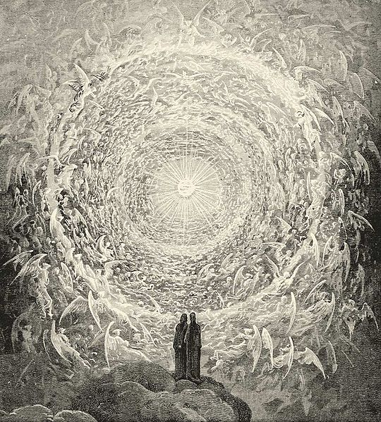 Gustave Dore, Rosa Celeste: Dante and Beatrice gaze upon the highest Heaven, The Empyrean (19th Century)