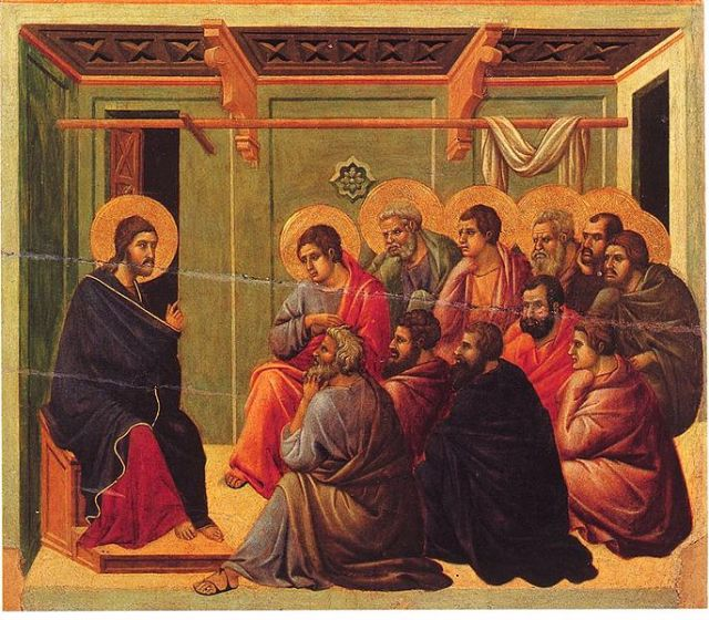 Duccio, Christ Taking Leave of the Apostles (1308-1311)