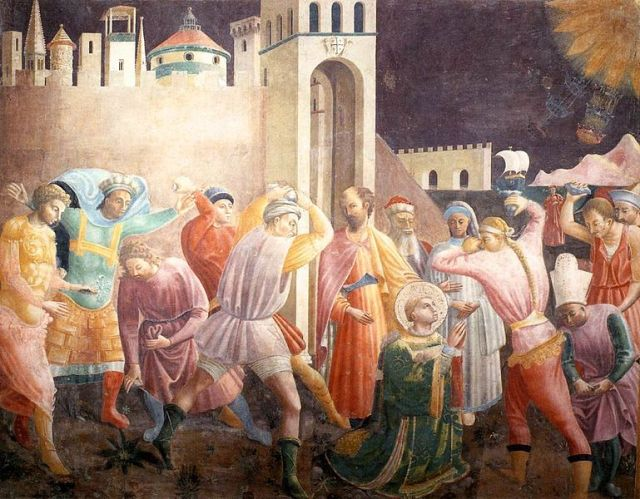 Paolo Uccello, Stoning of St. Stephen (1435)