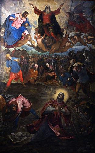 Stoning of St. Stephen, altarpiece of San Giorgio Maggiore, Venice