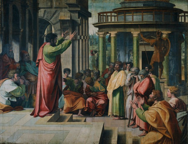 Raphael, St. Paul Preaching in Athens (1515)