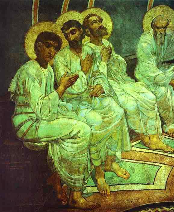 Mikhail Vrubel, Pentecost, (1884) Detail of Fresco in Church of St. Cyril, Kiev, Ukraine