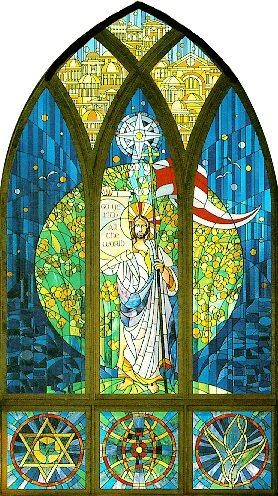 Stained glass window by David J. Hetland