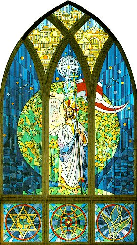 Stained glass window by David J. Hetland