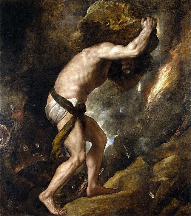 Titian, Sisyphus (1548-1549)