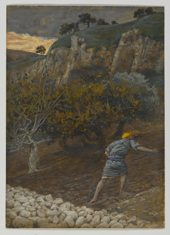 James Tissot, The Enemy Who Sows (Between 1886 and 1894)