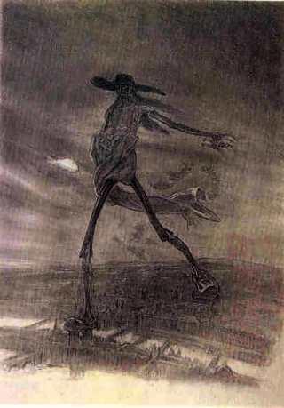 Felician Rops, Satan Sowing Seeds (1872)
