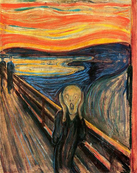 Edvard Munch, The Scream (Der Schrei der Natur) 1893