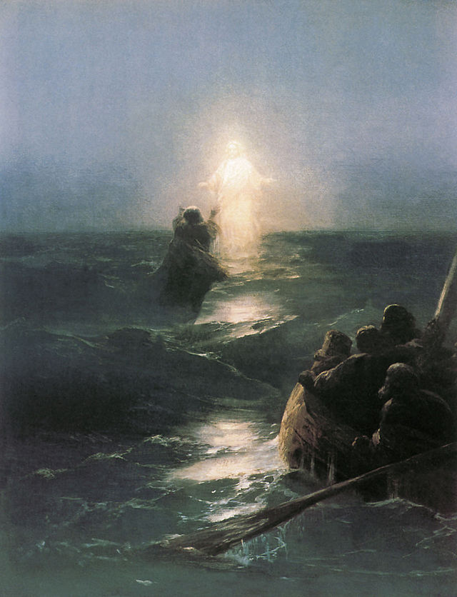 Ivan Aivazovsky, Walking on Water (1890s)