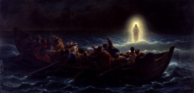 Amedee Varin (1818-1883) Le Christ marchant sur la mer