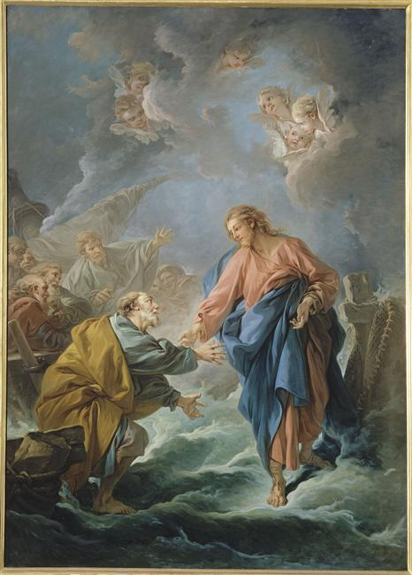 Francois Boucher, Saint Peter Attempting to Walk on the Water (1766)