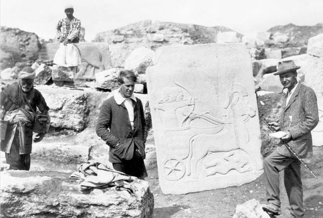 T.E. Lawrence and L. Wooley at Carchemish (1913)