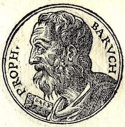 Baruch ben Neriah from Promptuerri Iconum Insigniorum, Published by Guillaume Rouille 1553