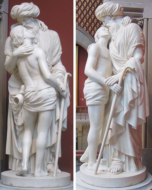 The Prodigal Son, Marble Statue by Joseph Mozier (1857)