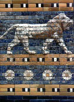 Detail from the Ishtar Gate (Reconstruction in Berlin's Pergamon Museum)
