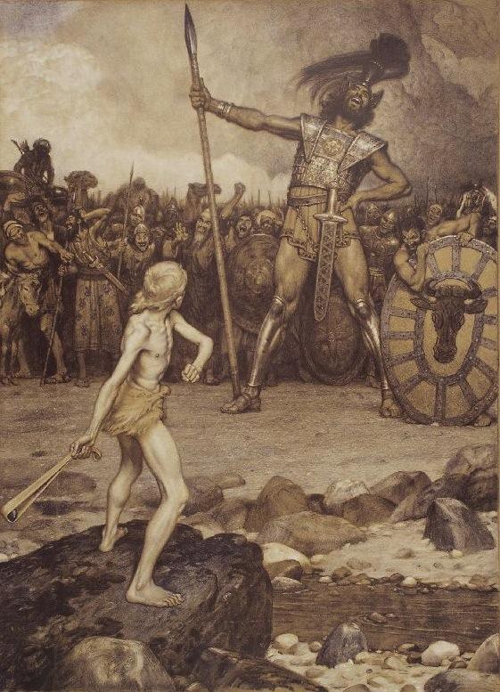 Osmar Schilndler, David und Goliath (1888)