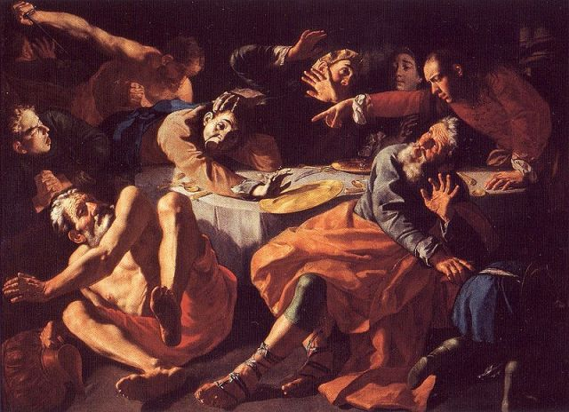 Gapare Traversi Die Erordung Amnons beim Gastmahl Absaloms (1752)