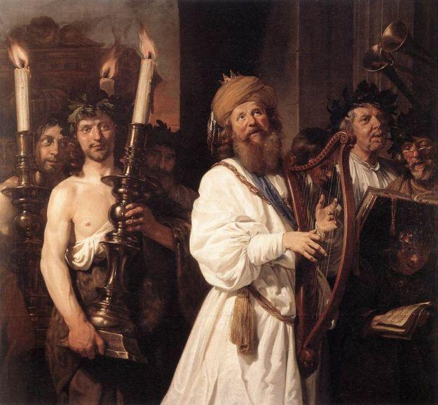 Jan de Bray, David Playing the Harp (1670)
