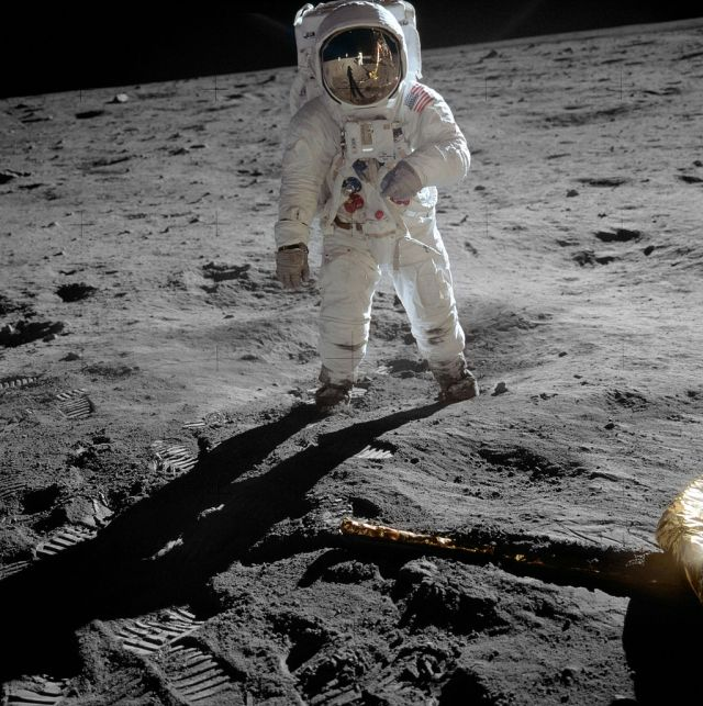 Picture of Buzz Aldrin taken by Neil Armstrong on the Apollo 11 mission to the moon
