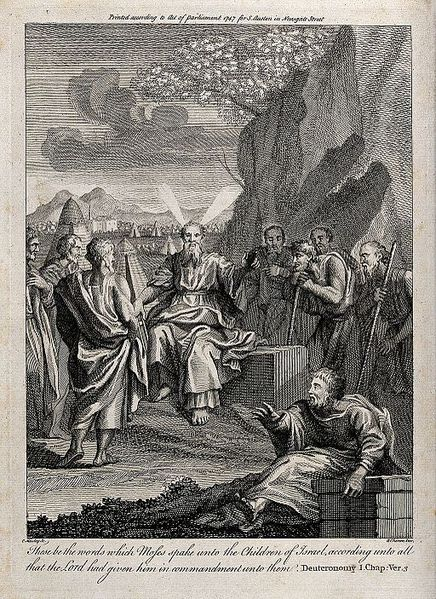 Moses Speaks To His People at Moab, Charles Mosley, 1747