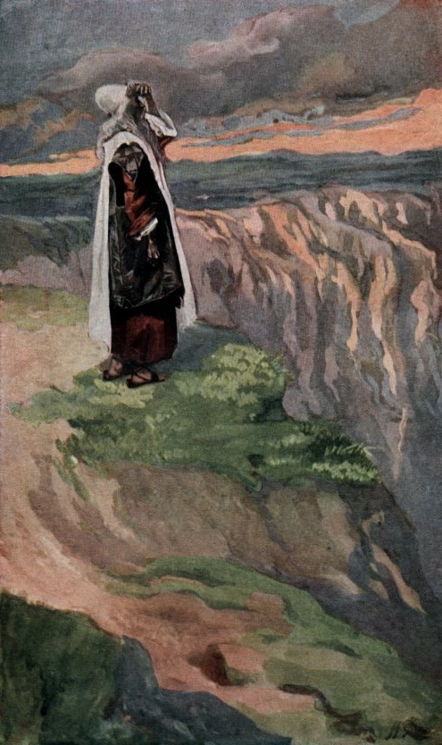 James Tissot, Moses Sees the Promised Land from Afar