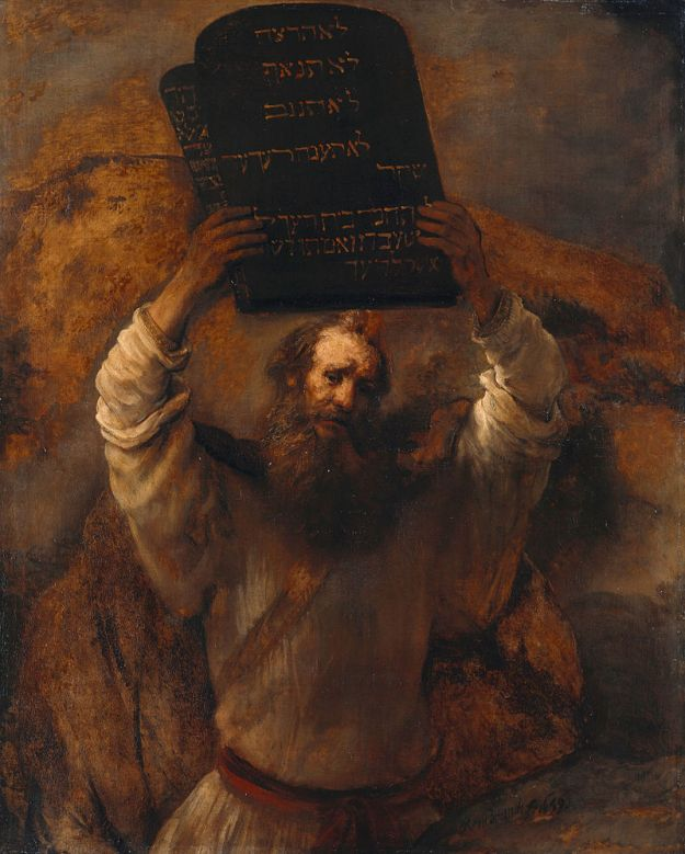 Rembrandt, Moses with the Ten Commandments