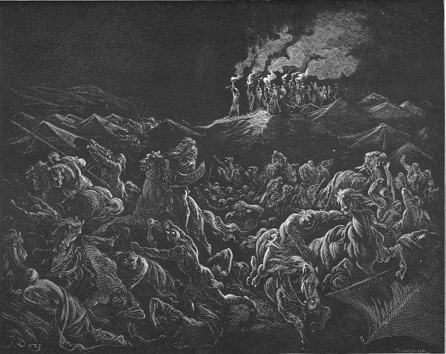 Gustave Dore, The Midianites Are Routed (1866)