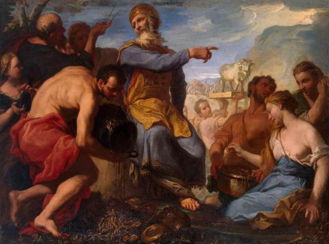 Antonio Molinari, Adoration of the Golden Calf between 1700 and 1702